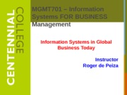 Class 1 - IS in Global Business Today F13