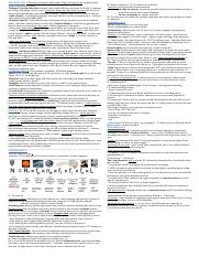 ASTR Exam 3 cheat sheet