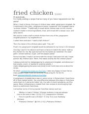 fried chicken양념통닭.docx