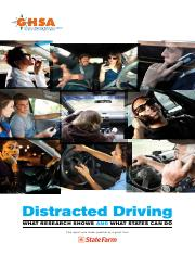 Distracted driving-Executive summary