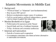 Islamist Movements and Gulf States