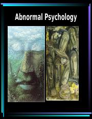 chapter 4 abnormal psychology