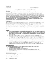 essay assignment sheet