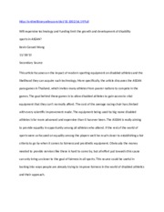 Prosthetics Research paper bibliography