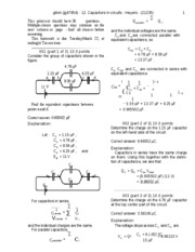 Capacitors in circuits-solutions