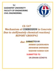 Mechanism of CORROSION in Concrete