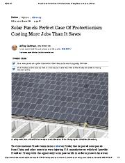 16c Solar Panels Perfect Case Of Protectionism Costing More Jobs Than It Saves.pdf