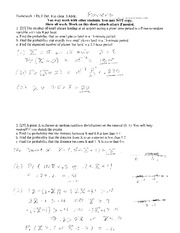 Homework 1 Solution on Probability and Statistics.
