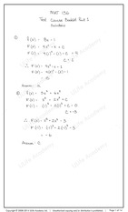 MAT 136 Test 1 part 1 solutions a - ULife