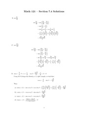 Trigonometric Identities 7.4
