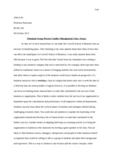(Nominal Group Process Conflict Management Class- Essay)