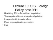 POLS2221 Lecture 10 Notes