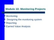 Module  10- Project Monitoring