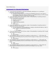 Assignment 2.2 Binomial Distribution.docx