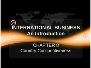 Chapter 8 COUNTRY COMPETITIVENESS