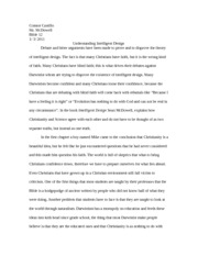 Understanding Intelligent Design   Essay