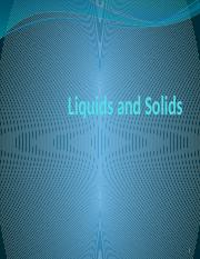 Lecture 6 Liquids and Solids