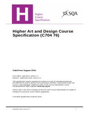 CfE_CourseSpecification_Higher_ExpressiveArts_ArtandDesign