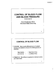 Kidney Slides Lecture 3 Blood Flow and Blood Pressure  PDF CHM 651 For Taking Notes Fall 2011 Final