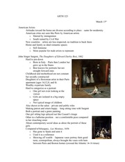 Lecture 9 notes, American Realists and Impressionists