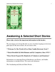 The Awakening %26 Other Short Stories By Kate Chopin