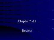 Chapter7-11 Review b