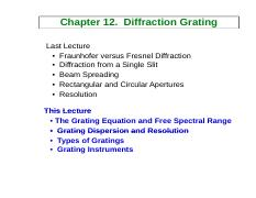 12-Diffraction grating