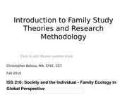 Lecture 2 Family theories