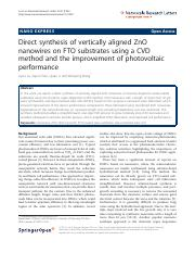 Direct synthesis of vertically aligned ZnO.pdf