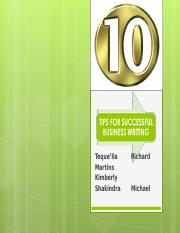 10 TIPS FOR SUCCESSFUL WRITING TEAM PROJECT.ppt