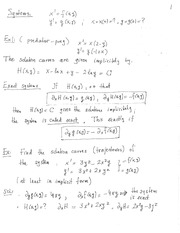 MATH 3650 Geometric Analysis of Automonous Systems Notes