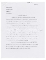 Short Paper 2nd Draft Example (Pier Reviewed)