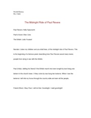 WOrld History- The Midnight Ride of Paul Revere