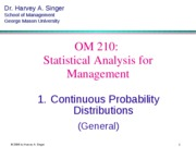 Section 6 Operation Management Statistics