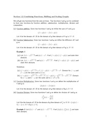 Math 113 Combining Function Notes