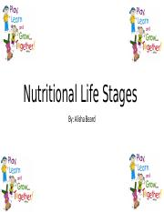 Nutritional Life Stages