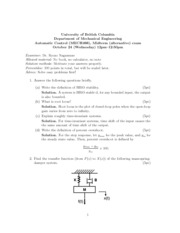 Midterm 2 2007W SOLUTIONS