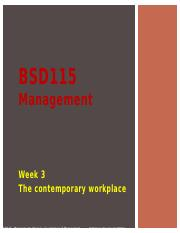 Lecture 3_The Contemporary Workforce_BSD115