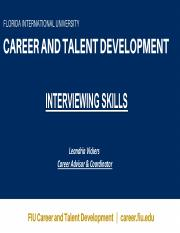 BME 4908_Career Development_Interviewing_ Spring 2017