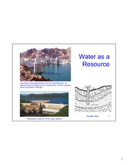 Week 5 Part 1- Water as a Resource