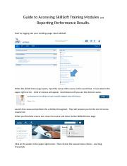 Guide to Accessing SkillSoft Training Modules and Reporting Performance Results.docx