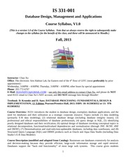 IS331-001_F13_Course_Syllabus_V1