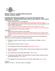 Module 7 Lesson 1 Student Notes Document