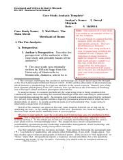 Case 1 Wal-Mart - An Example of a Case Study Analysis (10-09-14).docx