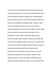 Essay about Oskar at Christmas