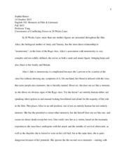 monsters essay 1
