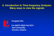 Chapter 8. Introduction to Time-frequency Analysis