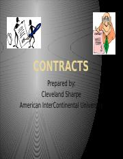 PowerPoint Presentation on Contracts (AIU)