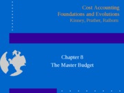Master budget-Chapter 8 PPT