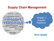 Chapter 3 Supplier Relations